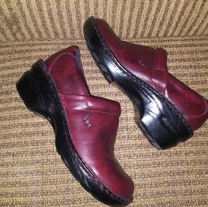B.O.C- Toby Red Wine Leather Clogs